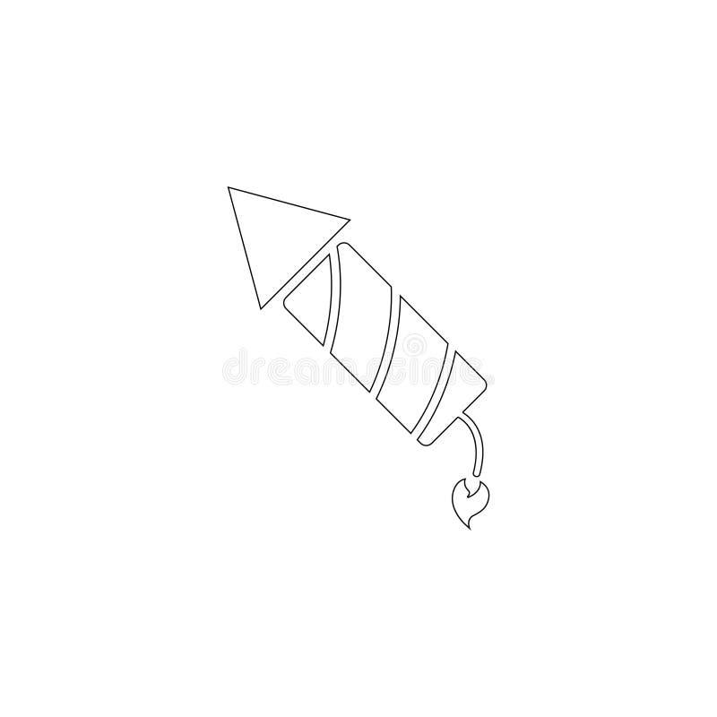 Fireworks rocket. flat vector icon vector illustration
