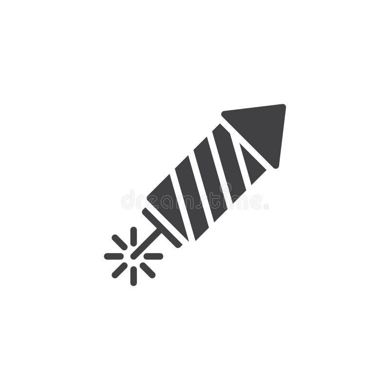 Fireworks rocket vector icon stock illustration