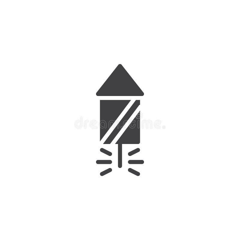Fireworks Rocket vector icon royalty free illustration