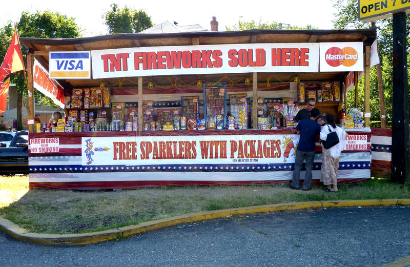 Fireworks For Sale In Washington D.C. Editorial Image