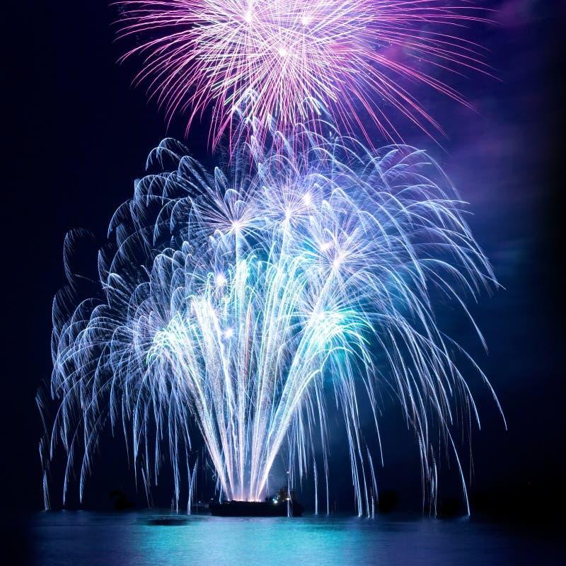 Fireworks, salute stock photos