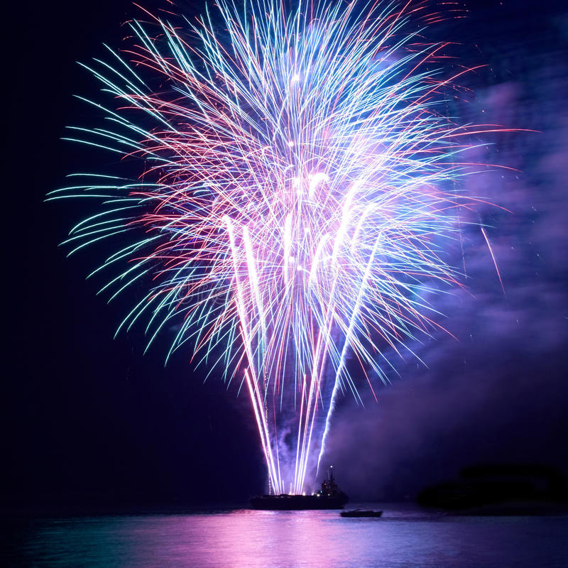 Fireworks, salute royalty free stock image