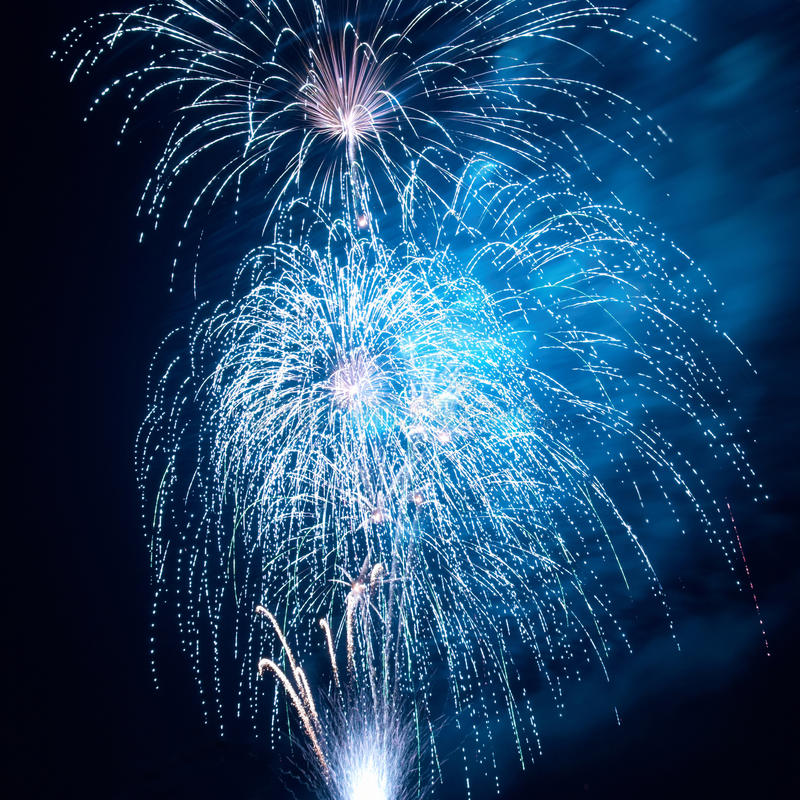 Fireworks, salute royalty free stock photography