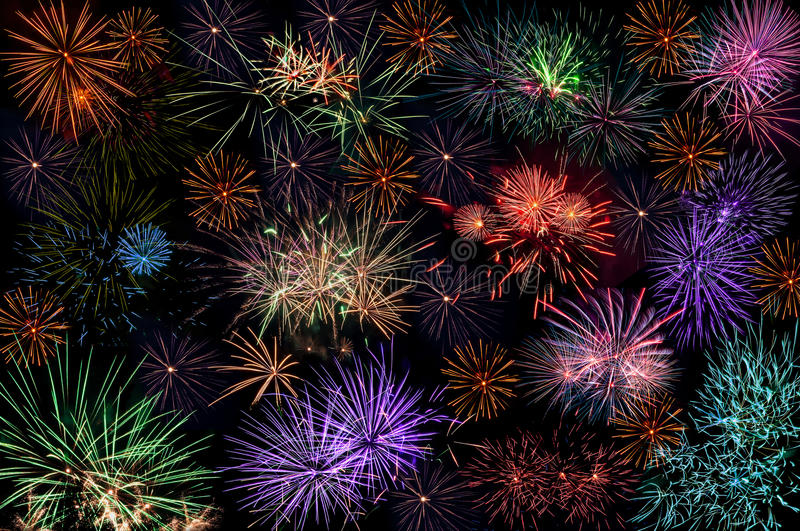 Wallpaper Salute Sky Holiday Colorful 3376x4220: Fireworks Salute Background Wallpaper Stock Image