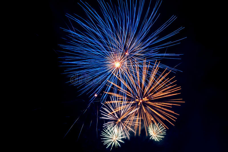 Fireworks salute royalty free stock photo