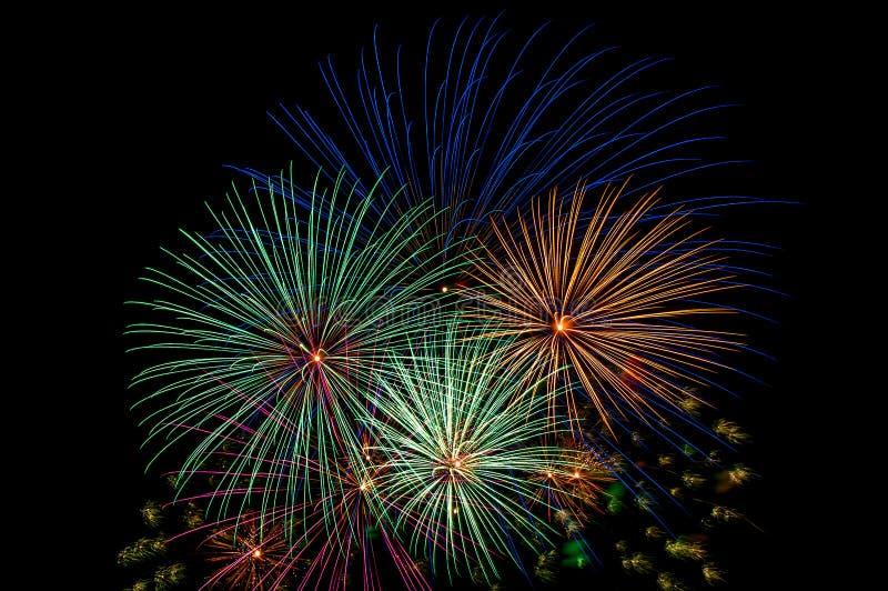 Fireworks salute royalty free stock photos