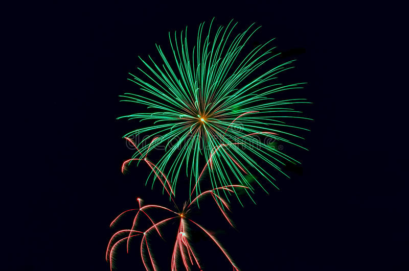 Fireworks salute stock images