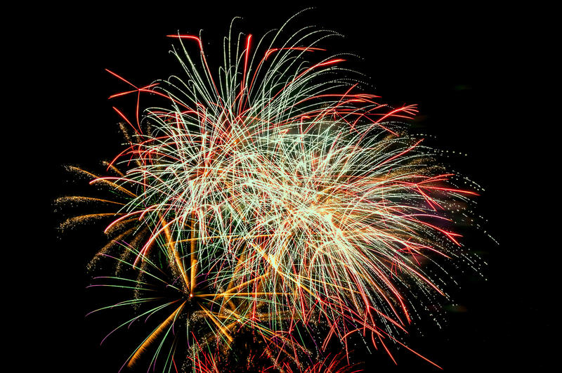 Fireworks salute royalty free stock image