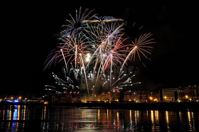 Download Fireworks In San Sebastian - August 2011 Editorial Image - Image: 20925575