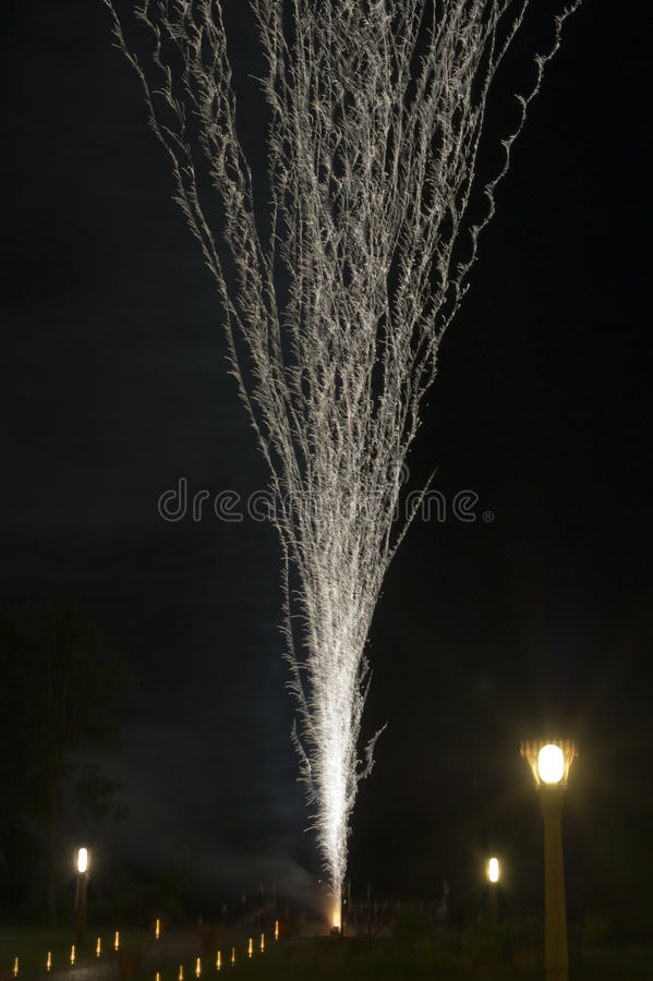 Fireworks show stock image