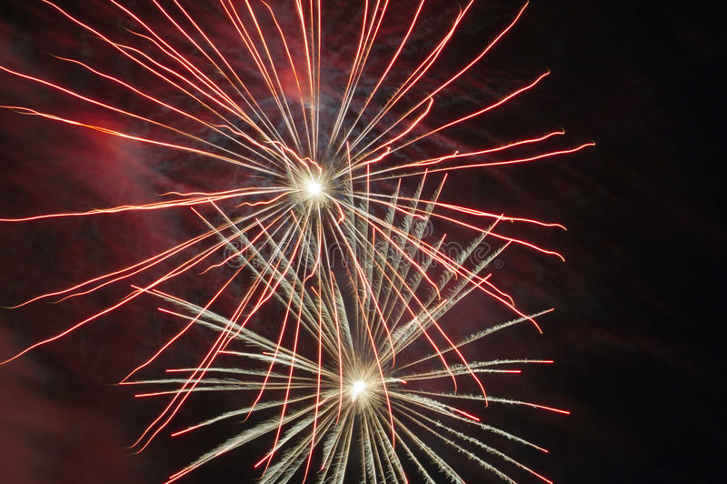 Fireworks show stock photos