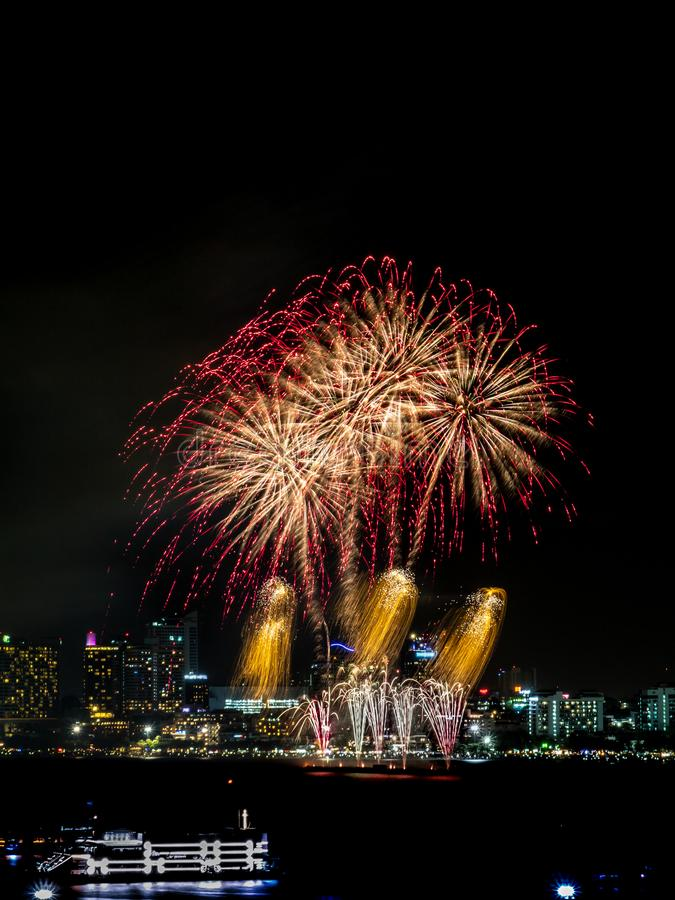 Fireworks sign of cristmas/ New Year eve and special festival. stock images