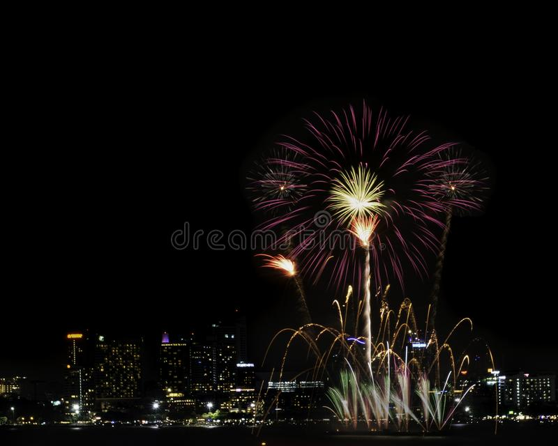 Fireworks sign of cristmas/ New Year eve and special festival. royalty free stock photos