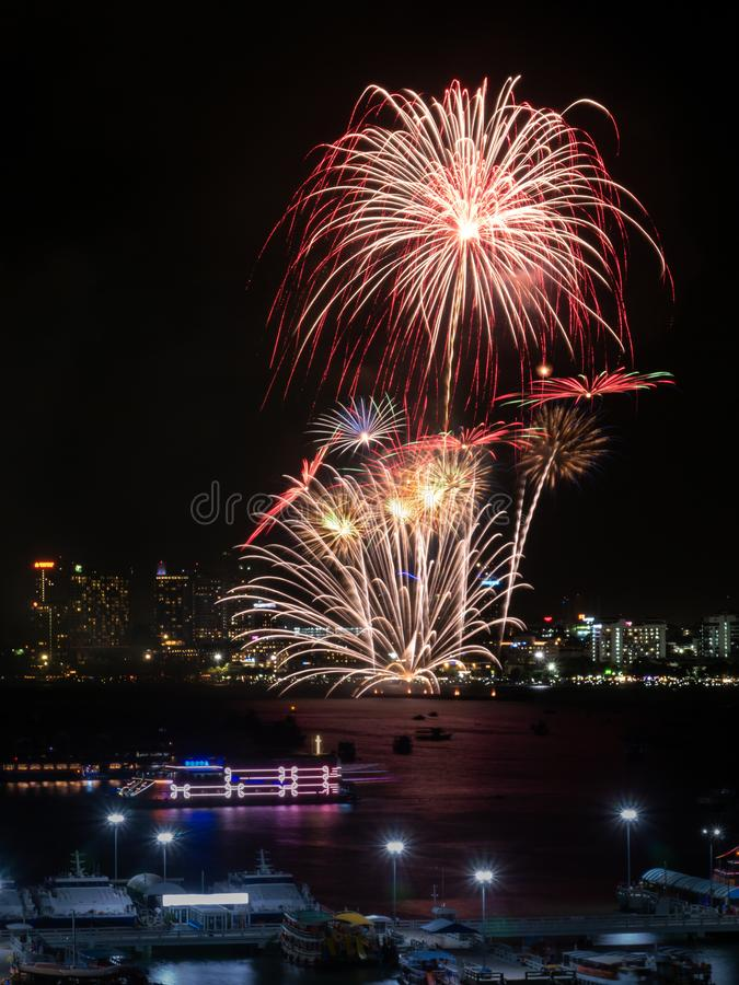 Fireworks sign of cristmas/ New Year eve and special festival. royalty free stock images