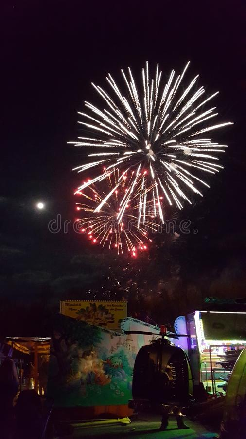 Fireworks in the sky royalty free stock photo