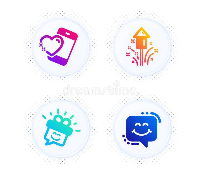 Smile Heart Face Icon. Smiley Symbol. Stock Vector