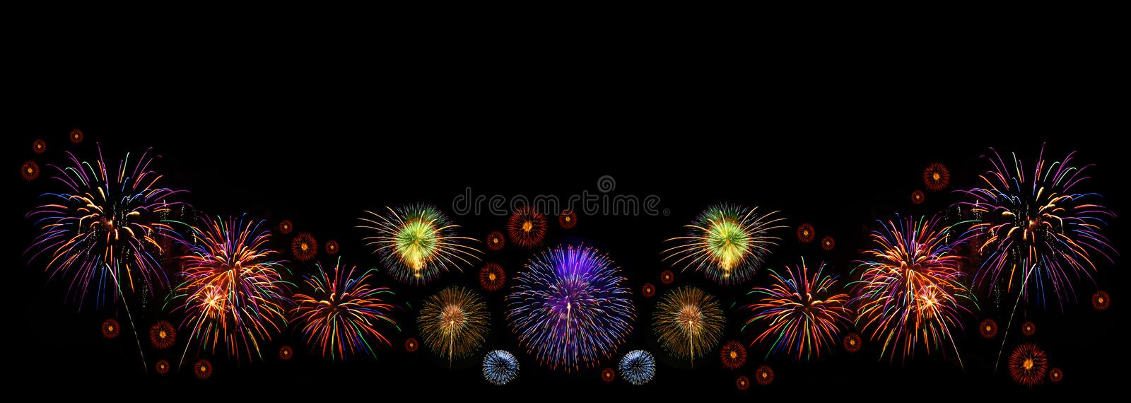 Fireworks with space for text royalty free stock photos