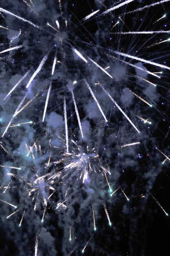 Fireworks - Star Burst Display stock image
