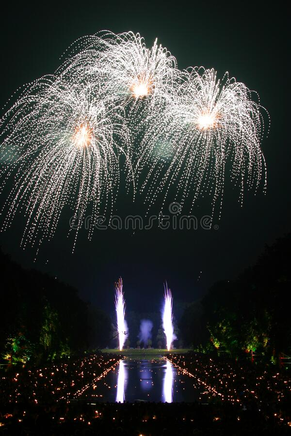 Fireworks Time Laps Photography royalty free stock photos