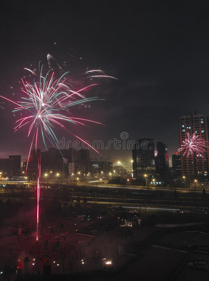 Download Fireworks To Celebrate Chinese New Year Stock Photo - Image: 29981950