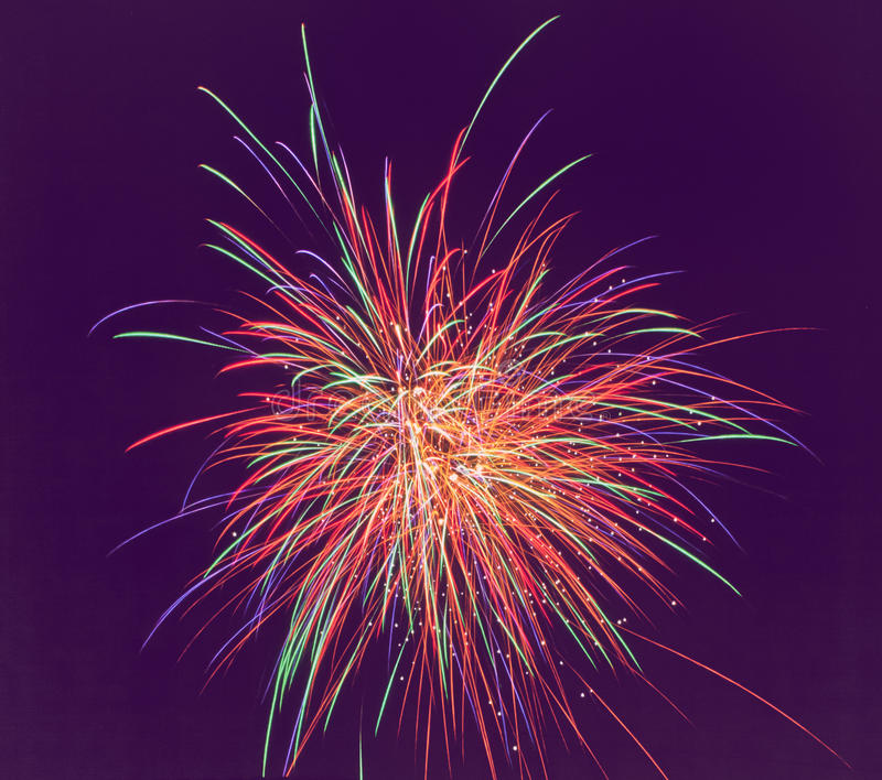 Download Fireworks  Of Various Colors Over Dark Sky. Soft F Stock Photo - Image: 28558006