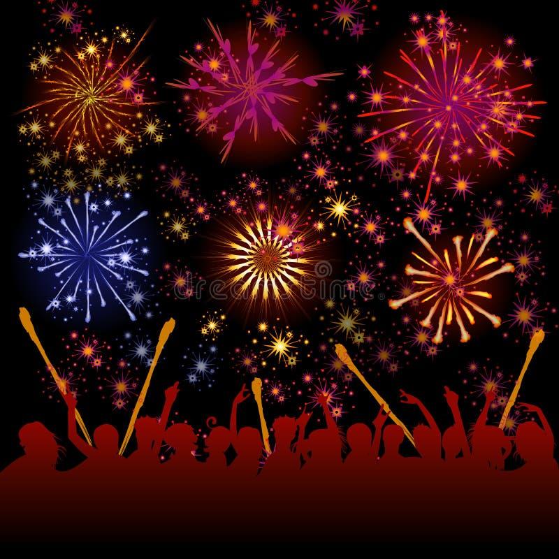 Download Fireworks Vector Stock Image - Image: 28562221