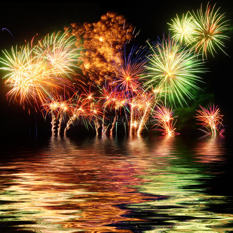 Download Fireworks stock photo. Image of bright, colorful, party - 42082940