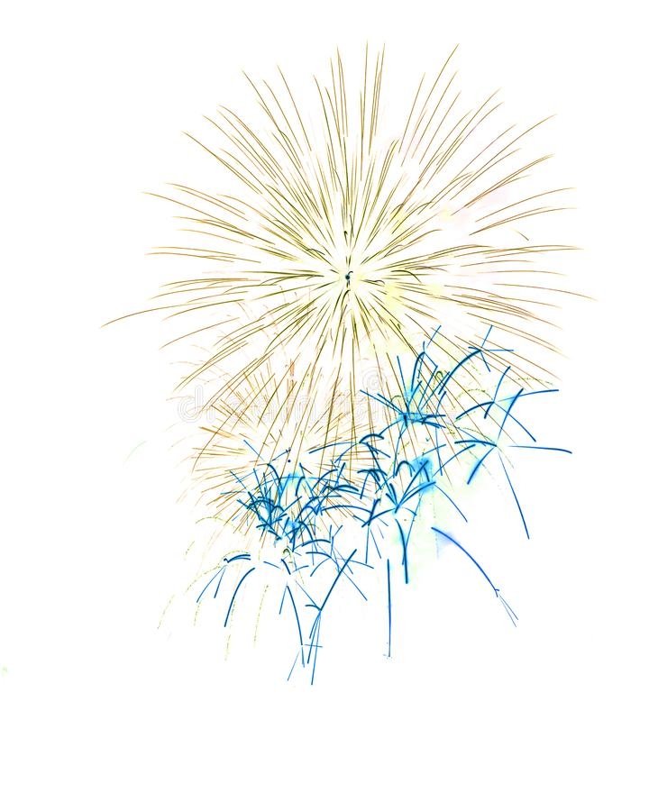Free Fireworks White As Background Or Wallpaper. Royalty Free Stock Photos - 131282668