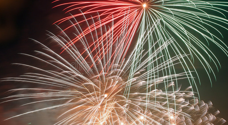 Fireworks zoom royalty free stock photography