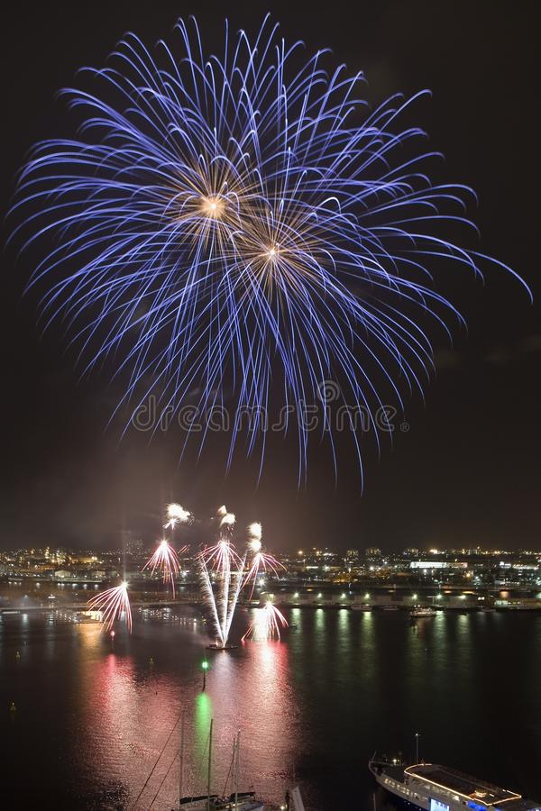 fireworks1 flyfox στοκ εικόνες