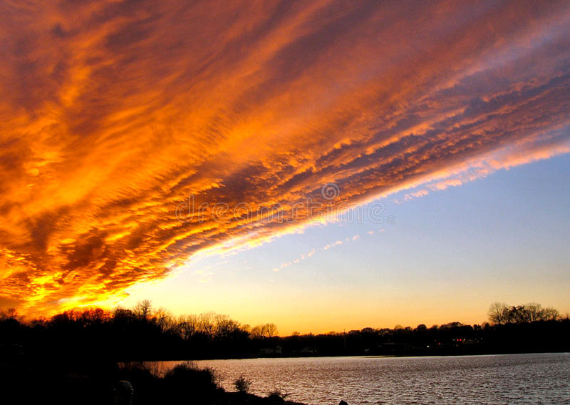 Firey Cloud in the Sky royalty free stock photography