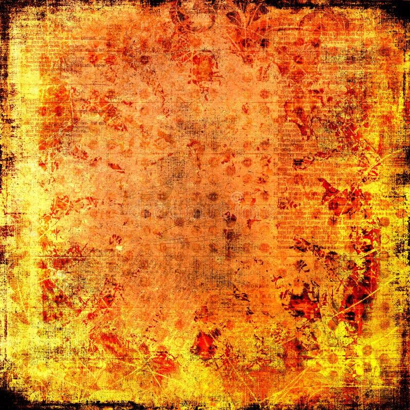 Firey Feuer-brennendes Flamme-Papier - Grungy Hintergrund lizenzfreies stockfoto