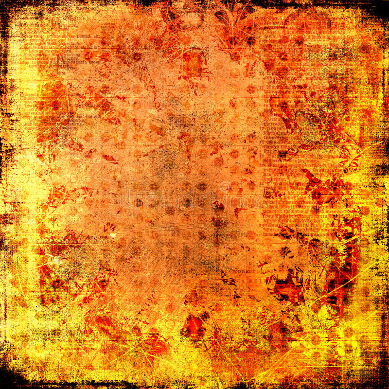 Firey Fire Burning Flames Paper -Grungy background royalty free stock photo