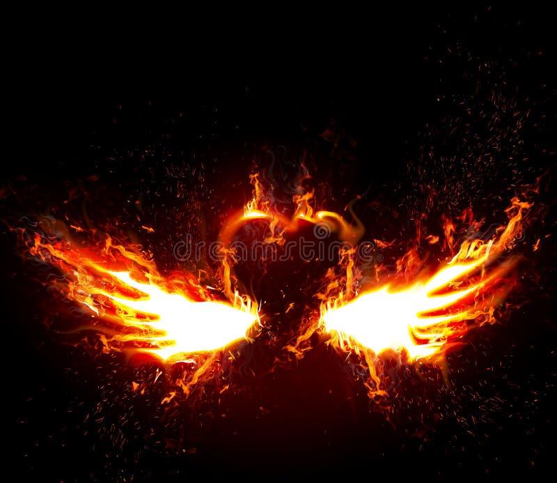 Firey Liebe stock abbildung