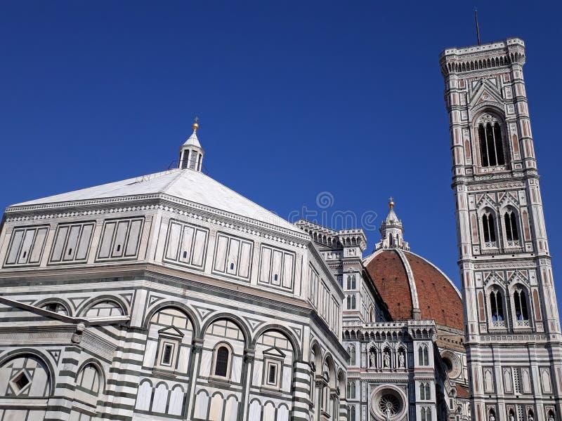 Fireze, Duomo, Battistero, Campanile di Giotto imágenes de archivo libres de regalías