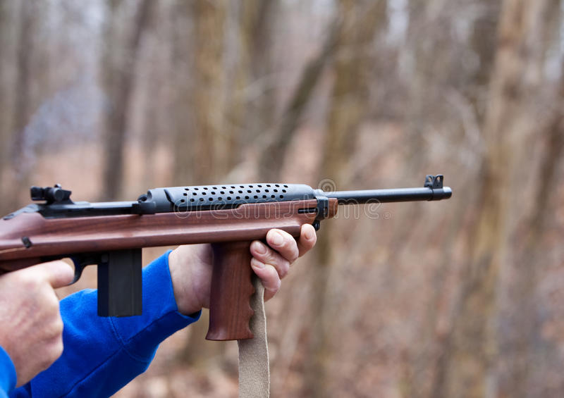 Download Firing an Assault Weapon stock image. Image of outdoors - 11956367