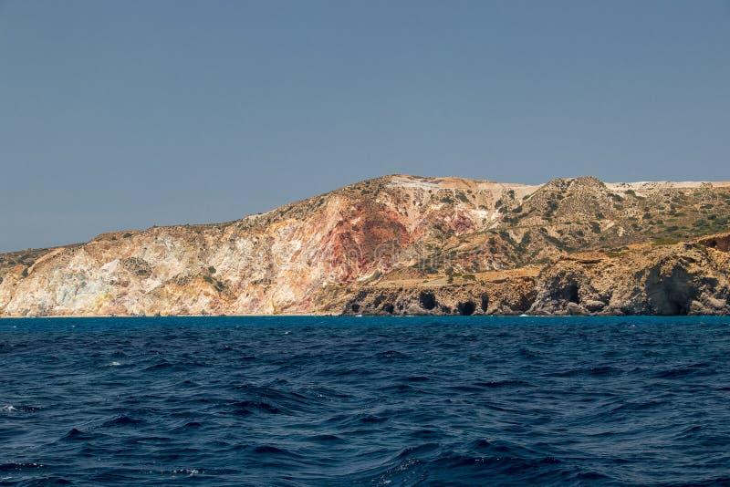 Firiplaka strandsikt från havet fotografering för bildbyråer