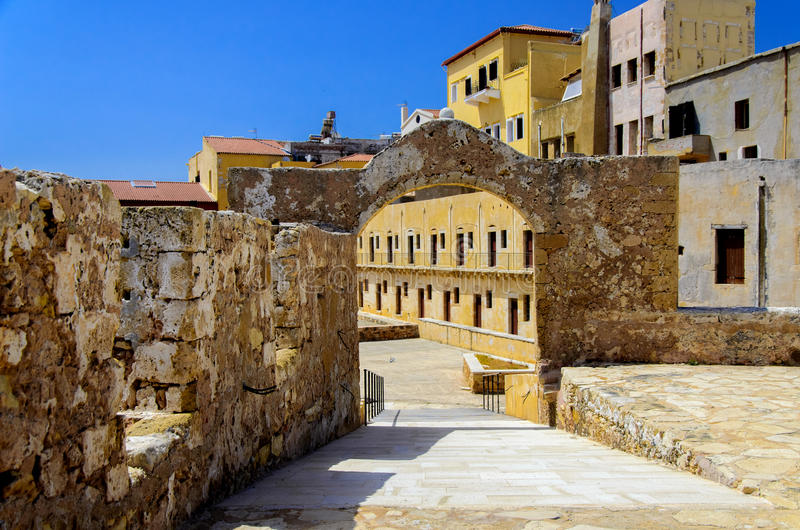 Firkas Fortress of Chania stock photography