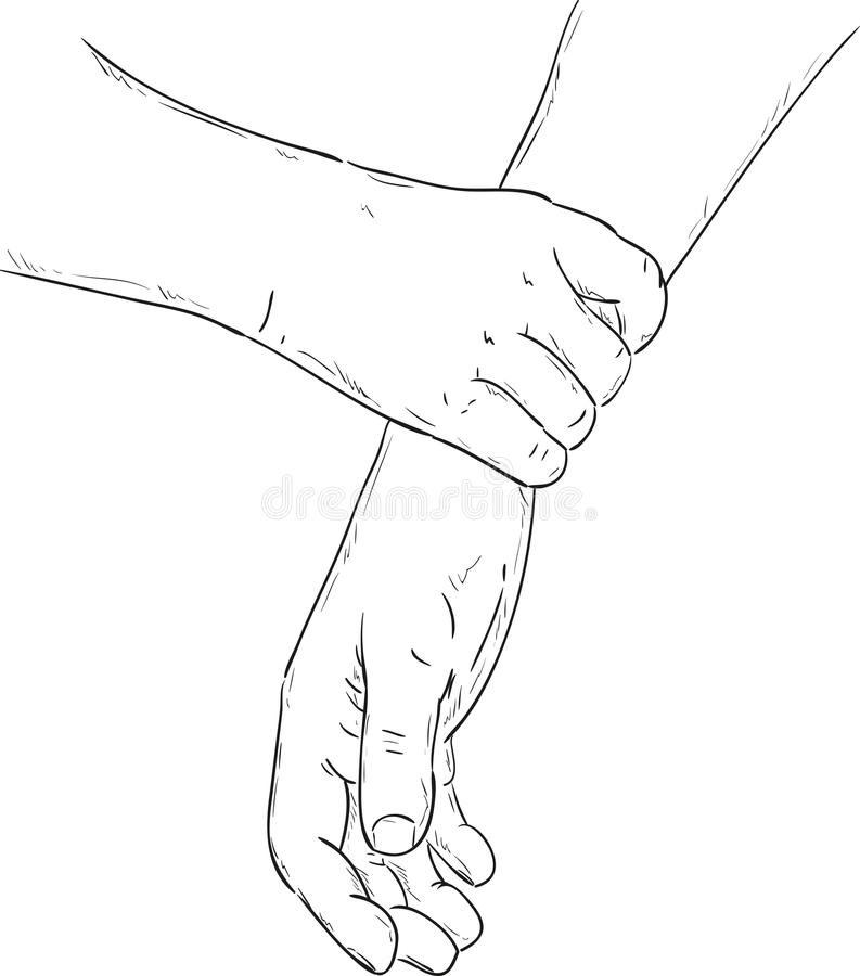 Firm grip. Vector - firm grip of the hand vector illustration