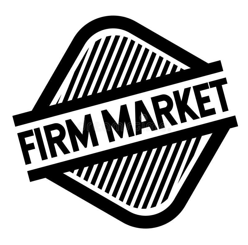 Firm market stamp on white. Firm market black stamp on white background . Label sticker vector illustration