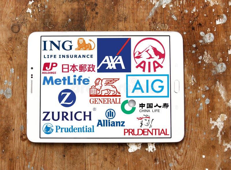 Firm ubezpieczeniowych ikony i logowie zdjęcia stock