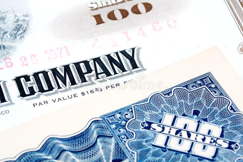 Firma-Anteile lizenzfreies stockbild