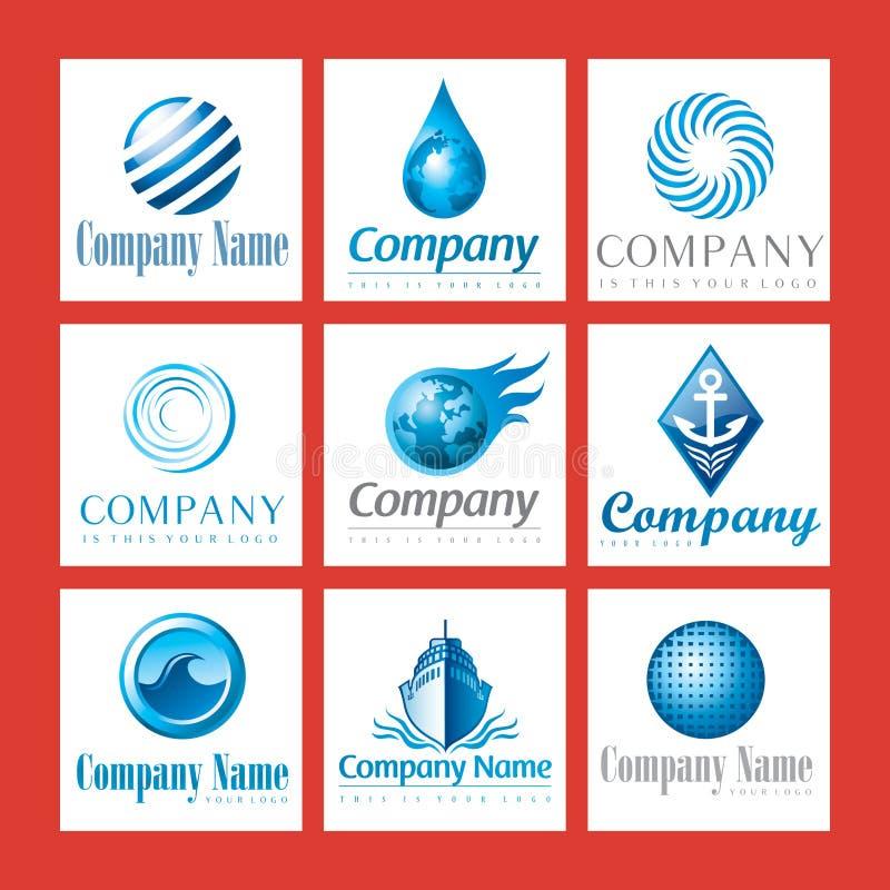 firma błękitny logowie ilustracja wektor