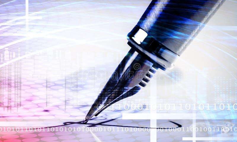 Firma con una pluma imagen de archivo