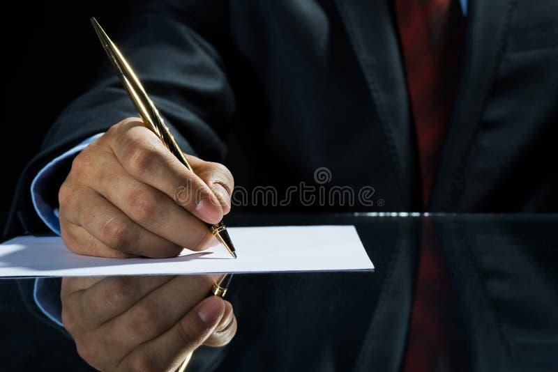 ¡Firma de un trato! imagen de archivo