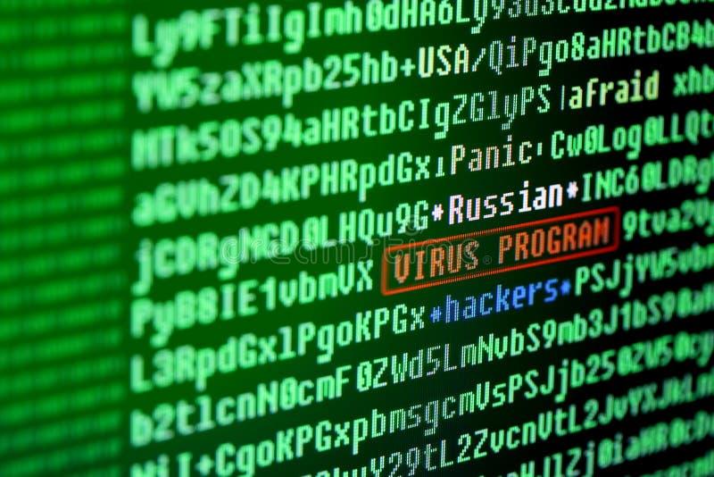 Firma de virus en código de programa Concepto del virus de ordenador imagen de archivo libre de regalías