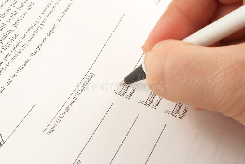 Firma del asunto foto de archivo libre de regalías