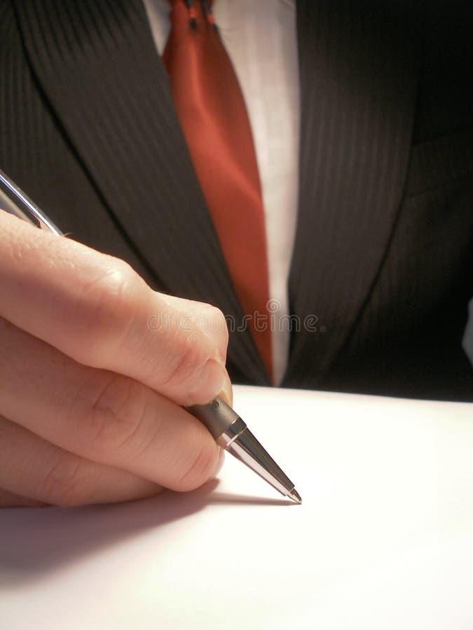 Firma del asunto fotos de archivo