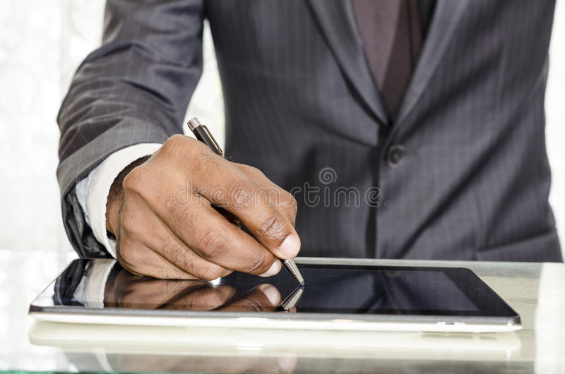 Firma dell'uomo immagine stock