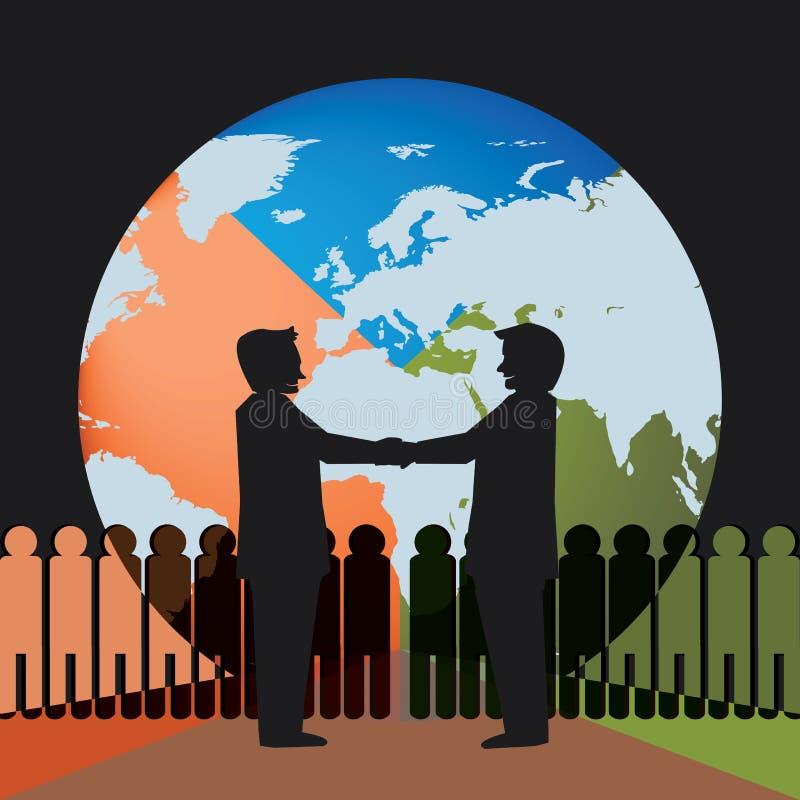 Firma globalnego biznesu spotkanie ilustracji